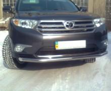 UA Tuning Защита передняя Toyota Highlander 2007-2013 (труба одинарная d 60)