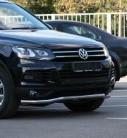Защита передняя Volkswagen Touareg 2010- (труба одинарная d 70)
