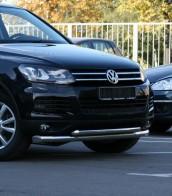 Защита передняя Volkswagen Touareg 2010- (труба двойная d 70/60)