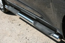 UA Tuning Пороги Hyundai ix35 (труба d 70 с площадками)
