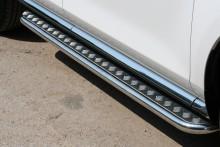 Пороги Mazda CX-7 (труба d 42 с листом)