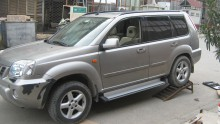 Пороги Nissan X-Trail (T30) 2000-2007 (алюминиевый профиль)