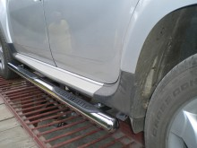Пороги Renault Duster (труба d 70 с площадками)