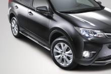 UA Tuning Пороги Toyota RAV4 2012- (труба d 70 с площадками)