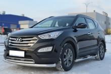 UA Tuning Пороги Hyundai Grand Santa Fe 2013- (труба d 70 с площадками)