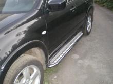 Пороги Mitsubishi Outlander 2003-2008 (труба d 60 с листом)