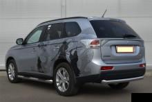 UA Tuning Защита задняя Mitsubishi Outlander 2012- (труба одинарная d 60)