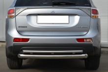 UA Tuning Защита задняя Mitsubishi Outlander 2012- (труба двойная d 60/42)