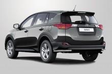 Защита задняя Toyota RAV4 2012- (уголки одинарные d 60)