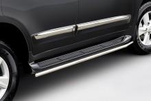 Защита штатного порога Lexus LX 570 (труба d 48)