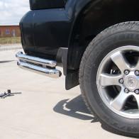 Защита задняя Toyota Land Cruiser Prado 120 (уголки двойные d 60/42) UA Tuning