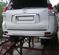 Защита задняя Toyota Land Cruiser Prado 150 2009-2013- (труба чайка d 60)