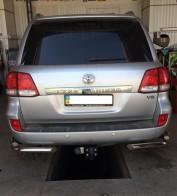 UA Tuning Защита задняя Toyota Land Cruiser 200 (уголки двойные d 60/42)