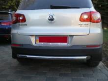 Защита задняя Volkswagen Tiguan 2007-2011- (труба одинарная d 60) UA Tuning