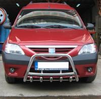 Защита передняя низкая Renault Logan MCV 2004-2013 (кенгурятник d 42) UA Tuning