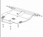 Кольчуга Защита двигателя, коробки передач, радиатора Toyota Corolla 2002-2007