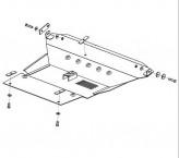 Кольчуга Защита двигателя, коробки передач, радиатора Toyota RAV 4 00-06