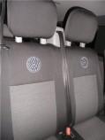 Чехлы на сиденья Volkswagen Transporter 5 Caravelle 2003- (8 мест 1+1/2+1/3) EMC