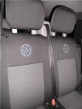 Чехлы на сиденья Volkswagen Transporter 5 Caravelle 2009- (8 мест 1+1/2+1/3) EMC