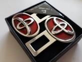 Заглушки ремня безопасности Toyota красные