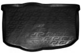 L.Locker Резиновый коврик в багажник Kia Soul 2009-2014 (нижний ярус)