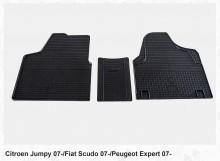 Резиновые коврики Fiat Scudo Citroen Jumpy Peugeot Expert 2007-2015 (клетка) Stingray