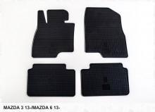 Резиновые коврики Mazda 3 Mazda 6 2012-