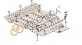 Кольчуга Защита двигателя, коробки передач Mercedes Vito W447 2014-