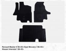 Резиновые коврики Renault Master Opel Movano 03-10