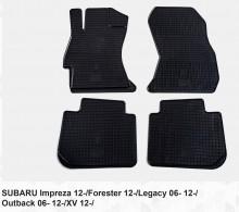 Резиновые коврики Subaru Forester (12-18) XV (11-17) Legacy Outback (09-15) Impreza (11-17)