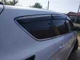 Ветровики с хром молдингом Ford Kuga 2012-2020 Escape USA ТРЕТЬЯ ЧАСТЬ