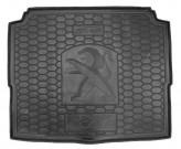 Резиновый коврик в багажник PEUGEOT 3008 2017- НИЖНИЙ AvtoGumm