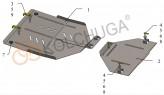 Кольчуга Защита раздатки и заднего моста Volkswagen Touareg 2002-2010-2018