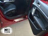 Nataniko Накладки на пороги Peugeot 308 5-ть дверей 2014- (Premium)