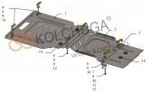 Кольчуга Защита двигателя, коробки передач, раздатки Mercedes (W251) R500 2005-2014