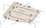 Кольчуга Защита двигателя, коробки передач Honda Civic IX 4D седан 2012-