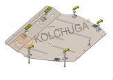 Кольчуга Защита двигателя, коробки передач, радиатора Mitsubishi Space Wagon 1997-2004