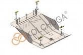 Кольчуга Защита радиатора Jac N75 2014-