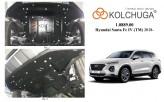 Кольчуга Защита двигателя, коробки передач, радиатора Hyundai Santa Fe 2018-