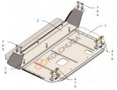 Кольчуга Защита двигателя, КПП, радиатора Ford Transit Custom 2016- V-2.0 TDCI ecoblue