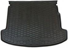 Резиновый коврик в багажник Renault Megane 2009-2015 (универсал) (с ушами)