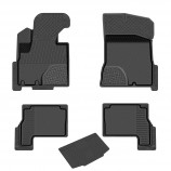 Rezkon Глубокие резиновые коврики Hyundai SantaFe 2010-2012