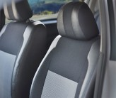 EMC (Экокожа + Автоткань) Чехлы на сиденья Audi A4 (B5) 1994-2001 деленная спинка