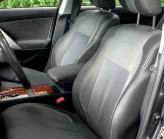 EMC (Экокожа + Автоткань) Чехлы на сиденья Renault Sandero Stepway (раздельная спинка) 2017-