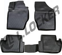 Глубокие резиновые коврики в салон Citroen C4 DS4 2010-