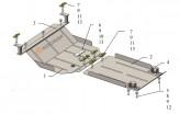 Защита двигателя, КПП Iveco Daily 6 2014-