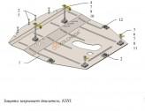 Защита двигателя, КПП Nissan Rogue 2012-