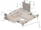 Кольчуга Защита двигателя, коробки передач Ford Courier 2014-2018