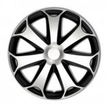 4Racing Колпаки Mega Silver-Black R14 (Комплект 4 шт.)