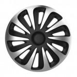 4Racing Колпаки Caliber carbon silver-black R17 (Комплект 4 шт.)